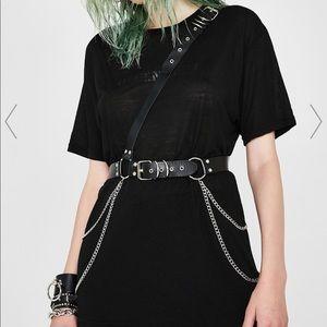 Black Harness w/ Chains